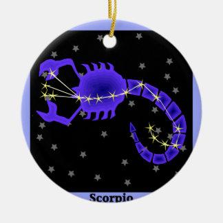 Scorpio Ceramic Ornament