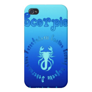 Scorpio Characteristics (Zodiac Water Sign) Case For iPhone 4
