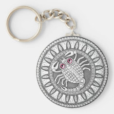 Scorpio Coin Basic Button Key Chain at Zazzle