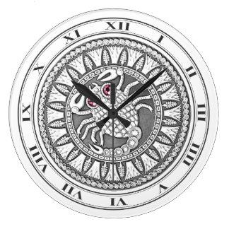 Scorpio Coin Wall Clock