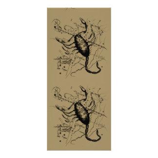 Scorpio Constellation Hevelius 1690 Decor Rack Card