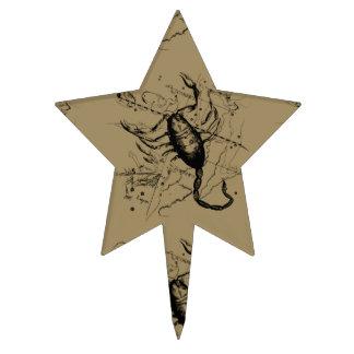 Scorpio Constellation Hevelius 1690 Engraving Cake Topper