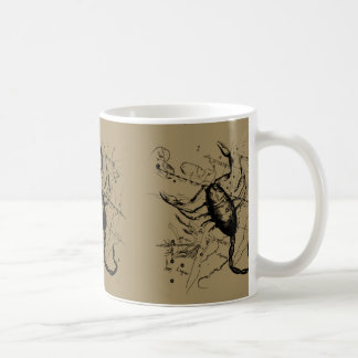 Scorpio Constellation Hevelius 1690 Engraving Coffee Mug