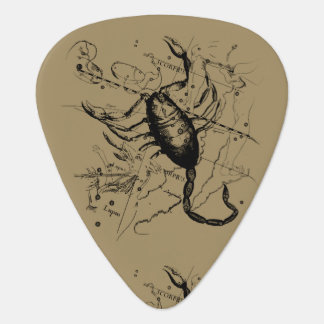 Scorpio Constellation Hevelius 1690 Oct23 -Nov 21 Guitar Pick