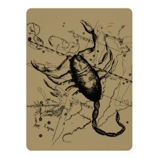 Scorpio Constellation Hevelius 1690 Oct23 -Nov 21 6.5x8.75 Paper Invitation Card