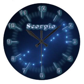 Scorpio constellation large clock