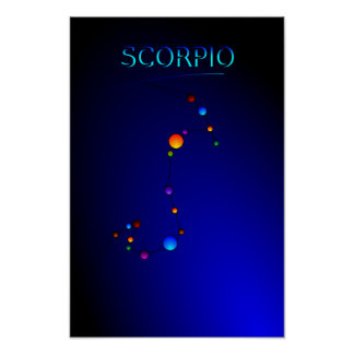 Scorpio Constellation Poster