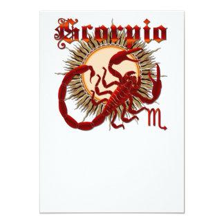 Scorpio-Design-1 5x7 Paper Invitation Card