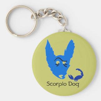 Scorpio Dog Keychain