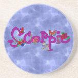 Scorpio Flowers Beverage Coaster