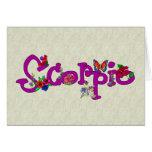Scorpio Flowers Card
