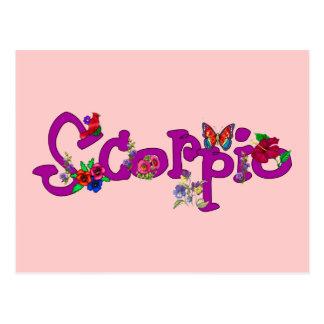 Scorpio Flowers Postcard