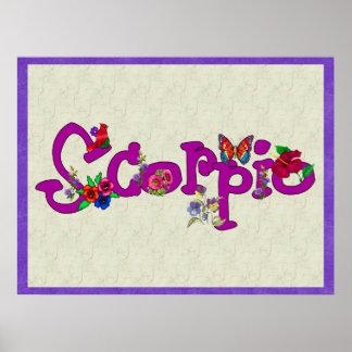 Scorpio Flowers Posters