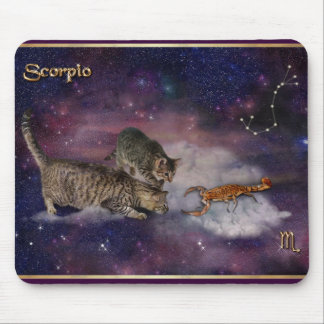 Scorpio for Cat Lovers Mouse Pad