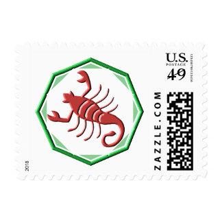 Scorpio (frame) postage stamp