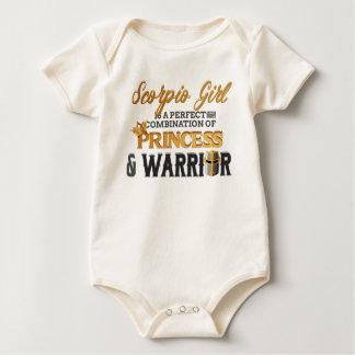 SCORPIO Girl Princess Warrior Horoscope Birthday Baby Bodysuit
