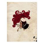 Scorpio Girl Zodiac Sign Postcard