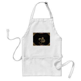Scorpio golden sign adult apron