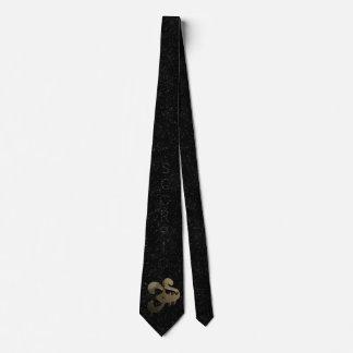 Scorpio golden sign neck tie