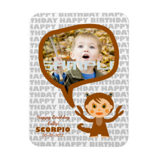 Scorpio Happy Birthday Keepsake for kids Magnet