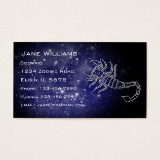 Scorpio Horoscope Business Card