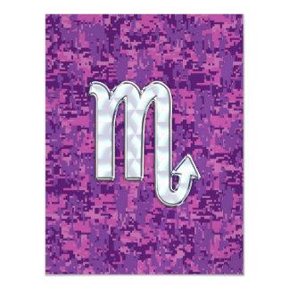 Scorpio Horoscope Sign on Pink Digital Camo Magnetic Card