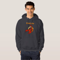 Scorpio illustration hoodie