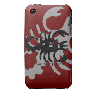 Scorpio in black Case-Mate iPhone 3 case