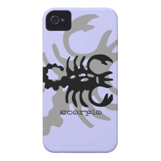 Scorpio in black iPhone 4 Case-Mate case