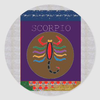 SCORPIO Insect Bite Wild Pet GREETINGS GIFTS CUTE Classic Round Sticker