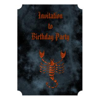 Scorpio 5x7 Paper Invitation Card