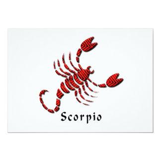"""Scorpio Invitation 5"""" X 7"""" Invitation Card"""