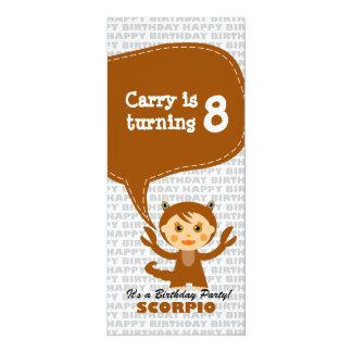"Scorpio Invitation Birthday Party 4"" X 9.25"" Invitation Card"