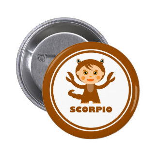 Scorpio is my Zodiac Sign Pinback Button
