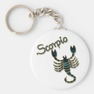 Scorpio Basic Round Button Keychain