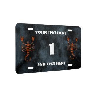 Scorpio License Plate