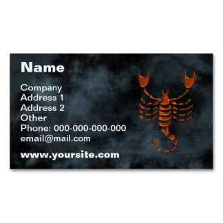Scorpio Magnetic Business Card