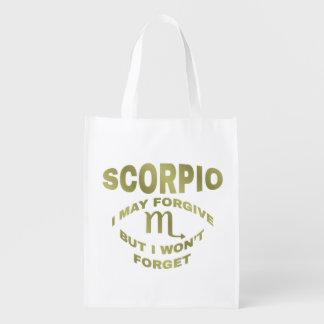 Scorpio May Forgive Won't Forget Reusable Bag Market Tote