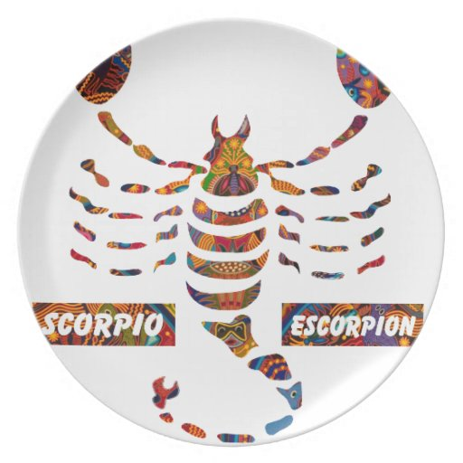 SCORPIO MAYAN HOROSCOPES PRODUCTS DINNER PLATE