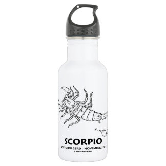 Scorpio (October 23rd - November 21st) Stainless Steel Water Bottle