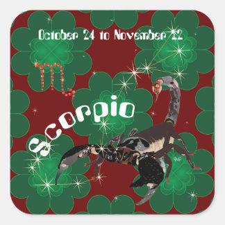 Scorpio October 24 to de los noviembre de 22 Pegatina Cuadrada