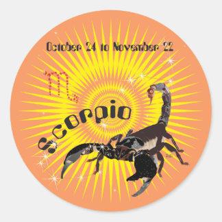 Scorpio October 24 to de los noviembre de 22 Pegatina Redonda