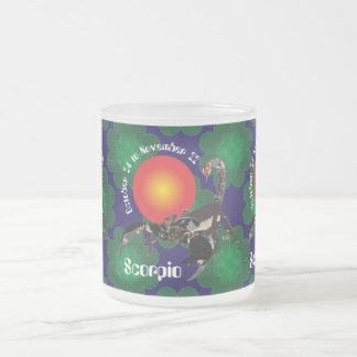 Scorpio October 24 to los noviembre de 22 Mug Taza De Café Esmerilada