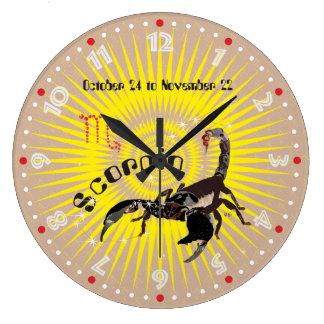 Scorpio October 24 tons November 22 embankment Large Clock