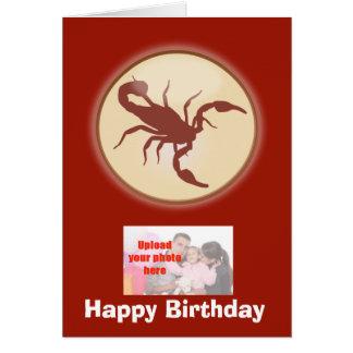 Scorpio October November Birthday with zodiac sign Card