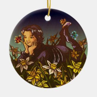 Scorpio Double-Sided Ceramic Round Christmas Ornament