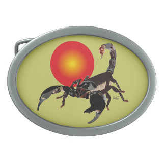 Scorpio - oval Gürtelschnalle Belt Buckle