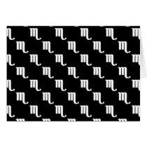 Scorpio Pattern Black and White