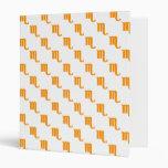 Scorpio Pattern Orange 3 Ring Binder