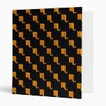 Scorpio Pattern Orange Binders